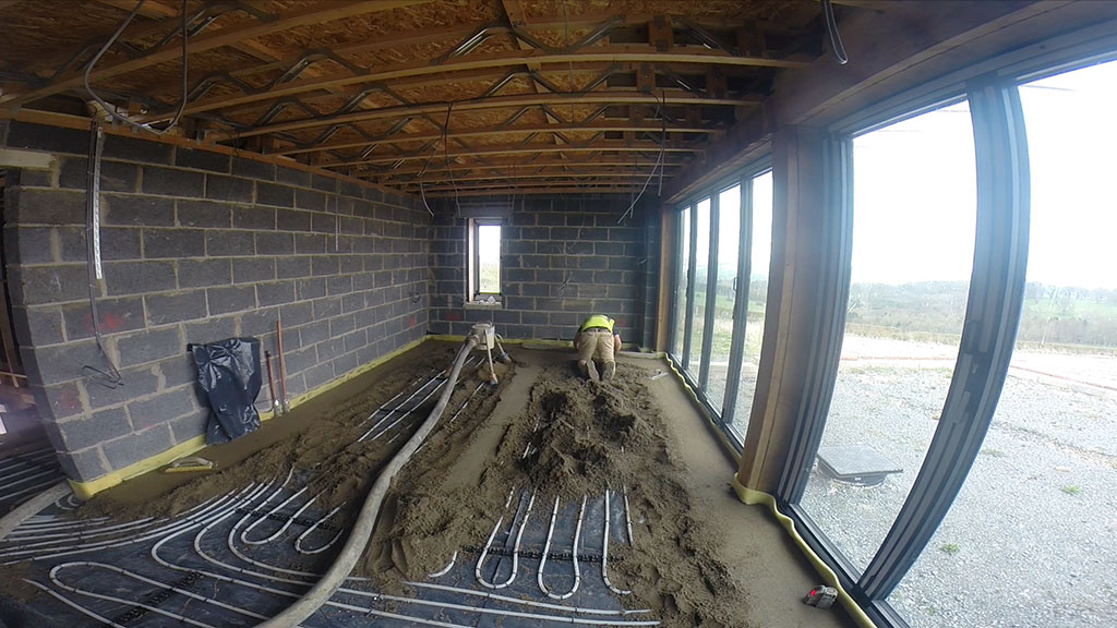 Speed Screed Underfloor heating and fast drying screed